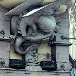 Дракон. Подбалконный декор в Копенгагене