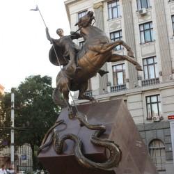 Георгий Победоносец — памятник сотрудникам милиции во Львове