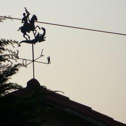 Дракон и рыцарь — флюгер в Сан-Паулу