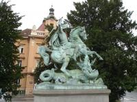 Статуя Святого Георгия-драконоборца в Загребе