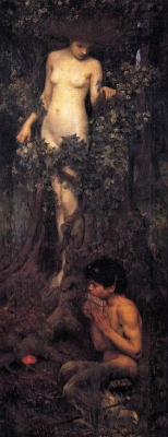 Гамадриада. Картина Джона Уильяма Уотерхауса (1917)
