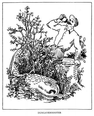 """Дангавенский фыркун. Иллюстрация Маргарет Рэмси Трайон из книги """"Устрашающие твари"""" (1939)"""