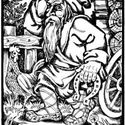 Дворовой. Иллюстрация Надежды Антиповой