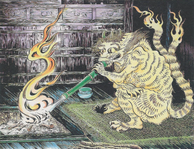 Готоку-нэко. Рисунок Шигеру Мизуки