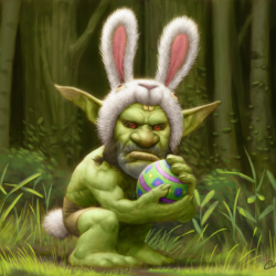 Пасхальный гоблин (Easter Goblin). Иллюстрация Бобби Чу (Bobby Chiu, Imaginism Studios)