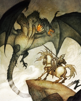 Змей Горыныч. Иллюстрация Юхана Эгеркранса