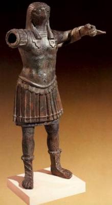 Статуя бога Хора в образе римского императора. I век н.э.