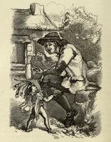 """Эллиллон и Раули Пью. Иллюстрация Т.Г.Томаса из книги У.В.Сайкса """"Британские гоблины"""" (1880)"""