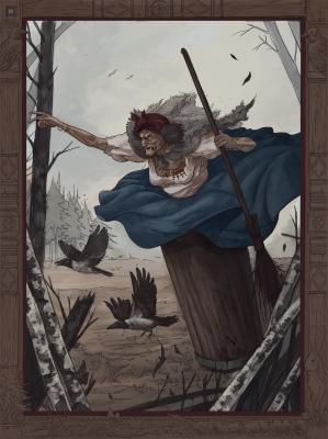 Баба Яга. Иллюстрация Эмиля Султанова