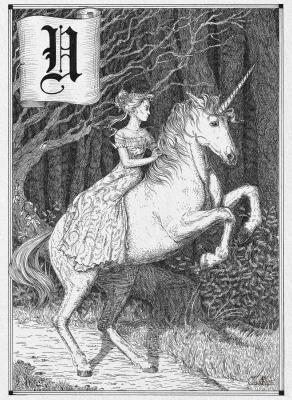 Единорог. Иллюстрация Юлии Широниной (CoalRye)