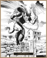 Крампус. Иллюстрация Клаудио Санчеса Вивероса