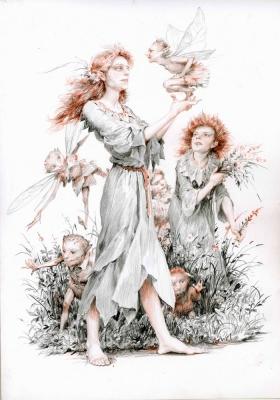 Феи (Fairies). Иллюстрация Дениса Гордеева к бестиарию Сапковского