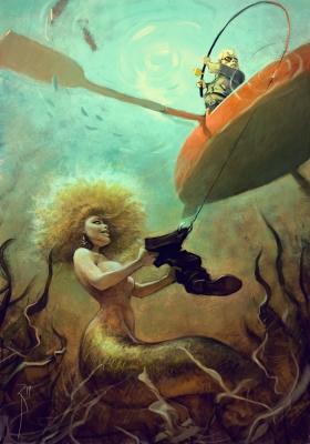 Рыбалка. Иллюстрация Вальдемара Казака