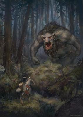"""""""Встреча в лесу"""". Рисунок Йонаса Йенсена"""