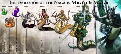 """Наги. Эволюция образа в играх серии """"Герои меча и магии"""""""