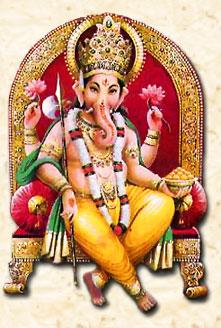 Бог Ганеша. Традиционный рисунок