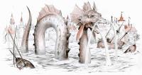 Гаргулец (Рыпач). Иллюстрация Дениса Гордеева к бестиарию Сапковского