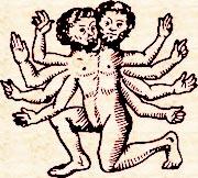 Гекатонхейр. Фрагмент росписи килика (реконструкция)