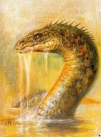 Глочестерская морская змея. Иллюстрация Боба Эгглтона
