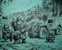 Гномы у великой реки. Иллюстрация И.Воронина