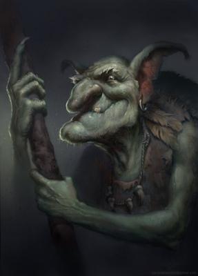 Гоблин-шаман. Рисунок Йонаса Йенсена