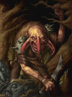 Гоблин-воин. Иллюстрация Дэйва Олсопа
