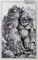 Голем. Иллюстрация Дарека Кшака (DK13Design)