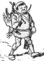 Снерг Горбо возвращается с охоты. Иллюстрация Джорджа Морроу