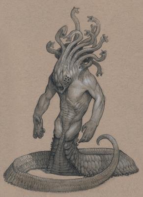 Горгона. Иллюстрация Анастасиоса Гиониса