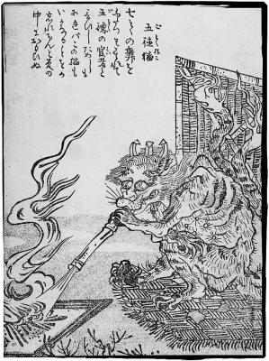 Готоку-нэко. Иллюстрация Ториямы Сэкиэна