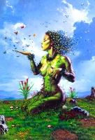 """""""Green Lady"""". Фрагмент картины Фреда Филдса"""