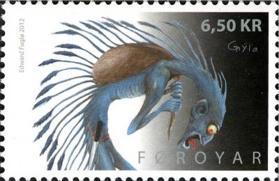 Грюла на марке Фарерских островов, 2012 год