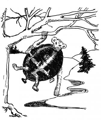 """Каучпок. Иллюстрация Маргарет Рэмси Трайон из книги """"Устрашающие твари"""""""