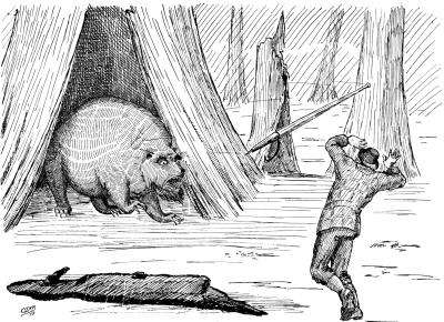 """Каучпок. Иллюстрация Кёр Дю Буа из книги """"Устрашающие твари промысловых лесов"""""""