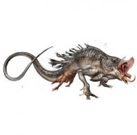 """Гвемуль. Концепт-арт существа для фильма """"Вторжение динозавра"""" (2006)"""