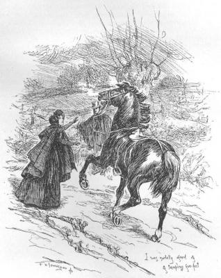 Встреча Джейн Эйр и мистера Рочестера. Иллюстрация Фредерика Таунсенда, 1897 год