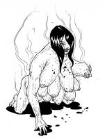 """Ханту Тетек (Ханту Копек). Иллюстрация Мод Кадира (Mohd Kadir) для """"Малазийской книги нежити"""""""