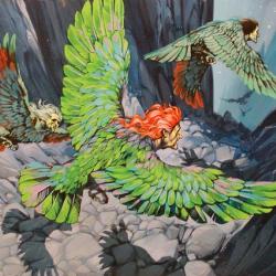 """Гарпии. Иллюстрация Ангуса МакБрайда для журнала """"Finding Out"""""""