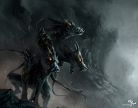 Адская гончая (Hellhound). Иллюстрация Андреаса Куна