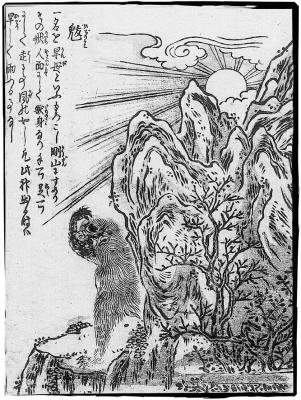 Хидэри-гами. Иллюстрация Ториямы Сэкиэна