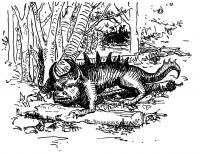 """Ходаг. Иллюстрация Маргарет Рэмси Трайон из книги """"Устрашающие твари"""""""