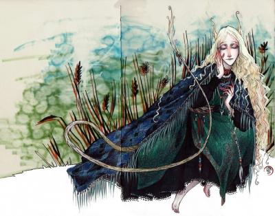 Хульдра. Иллюстрация Лидии Магоновой (Ink-Yami)