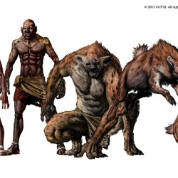 Человек-гиена. Иллюстрация, демонстрирующая процесс обращения
