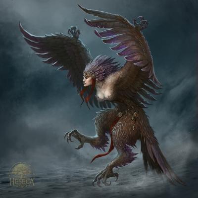 Гарпия. Иллюстрация Юлии Алексеевой (CG-Warrior)
