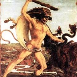 """""""Геракл убивает Лернейскую Гидру"""". Картина Антонио Поллаиоло (1460)"""
