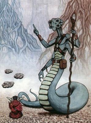 Хисалрианин Н'ката Дель Гормо, учитель мастера Йоды. Иллюстрация Чака Хамильтона