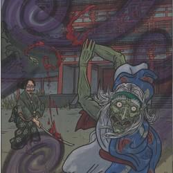 """Ибараки-додзи. Иллюстрация Мэтью Мэйера к книге """"Ночной парад сотни демонов"""""""