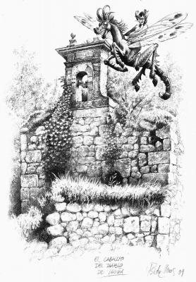 Caballucos del diablo (Дьявольские лошадки). Иллюстрация Исидре Монеса