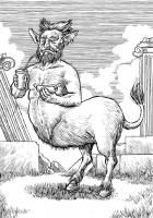 Онокентавр. Иллюстрация Ричарда Свенссона