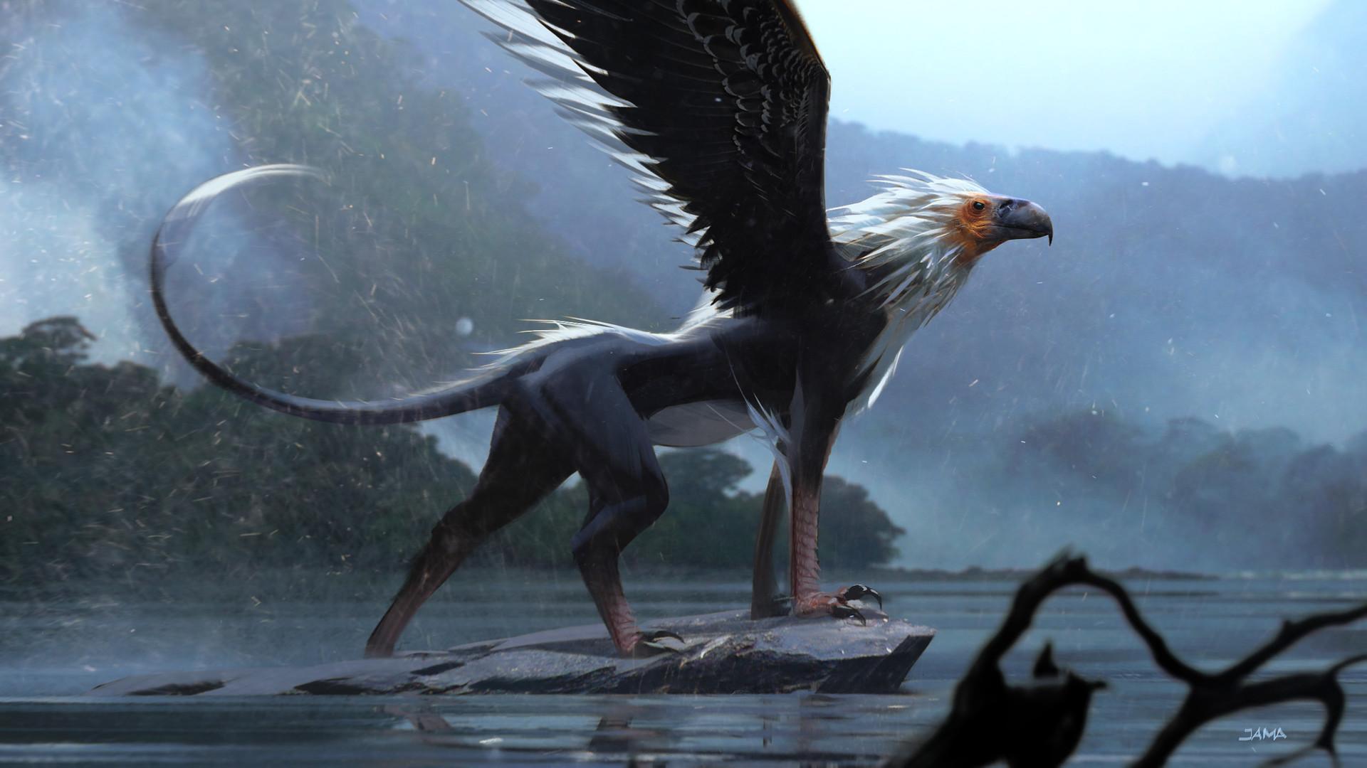 Обои крылья, Схватка, гриф. Лисы foto 10
